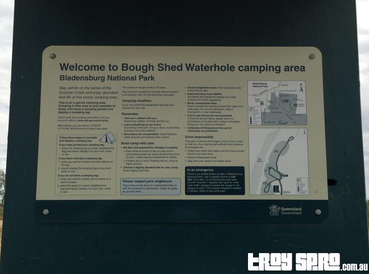 Camping at Bough Shed Hole in Bladensberg National Park Winton Queensland