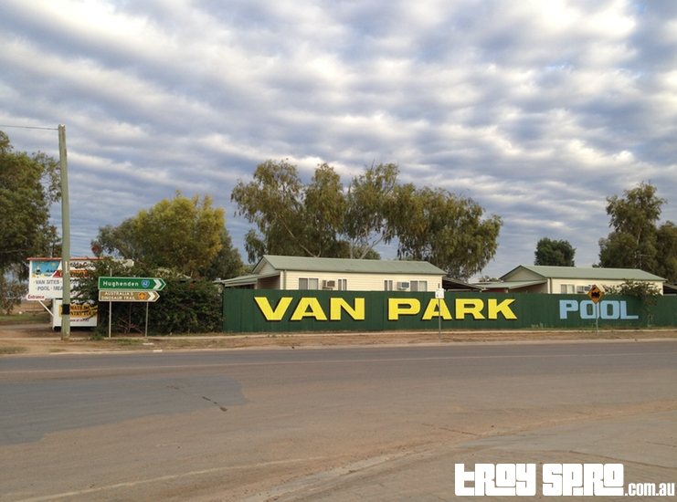 Matilda Country Tourist Park Winton Main Fence Sign Caravan Park