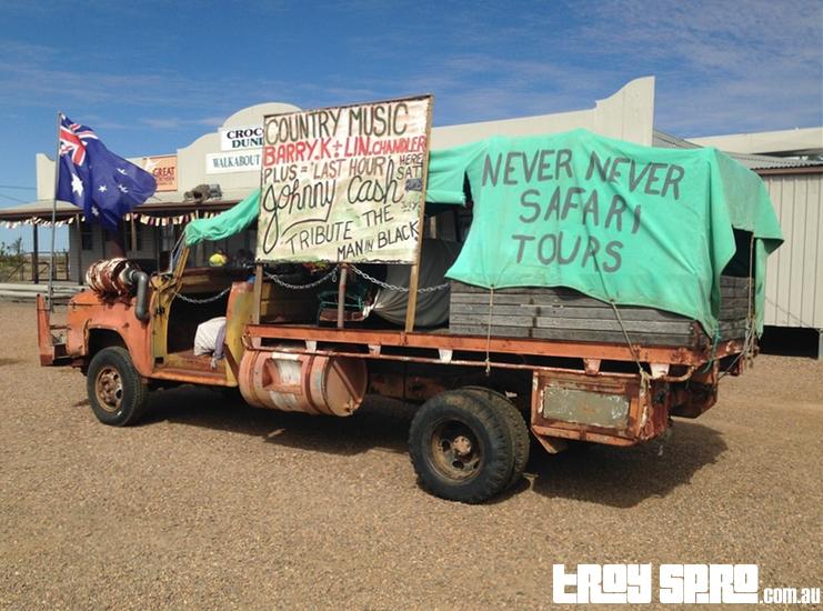 Never Never Safari Truck Walkabout Creek Hotel McKinlay Queensland