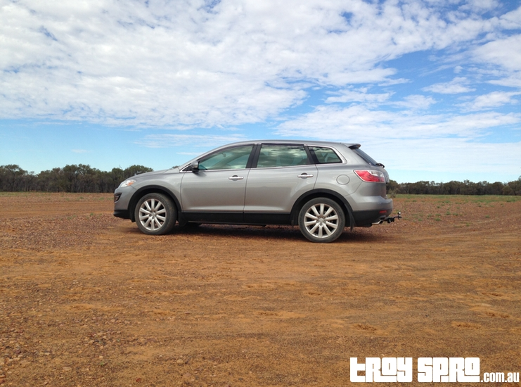 Potential Mazda CX9 Ad in Outback Australia Queensland Bladensberg National Park