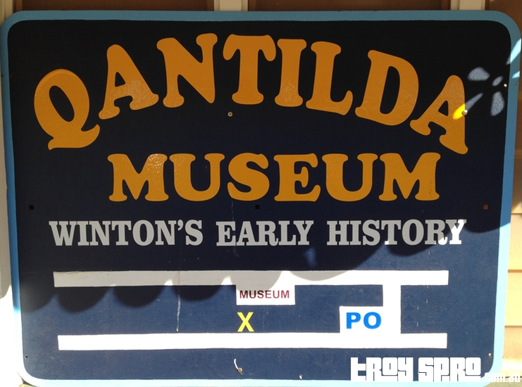 Qantilda Museum Sign Winton Early History Waltzing Matilda Centre Winton Queensland