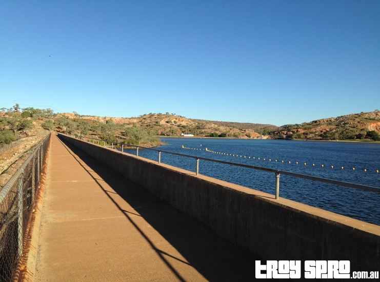 Dam View of Lake Moondarra Outback Queensland