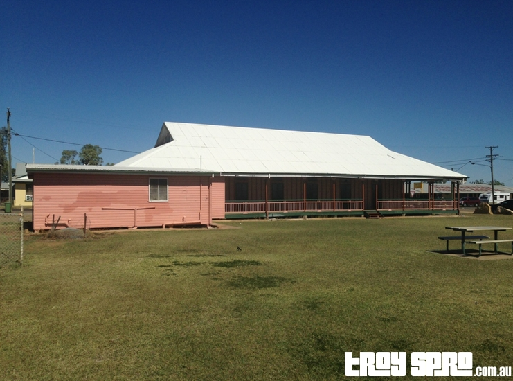 Back of the Camooweal Town Hall