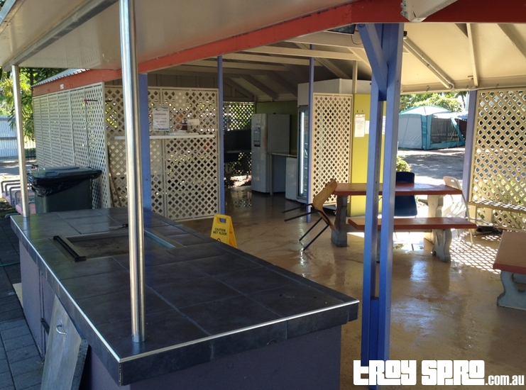 Kitchen Area at the Rowes Bay Caravan Park
