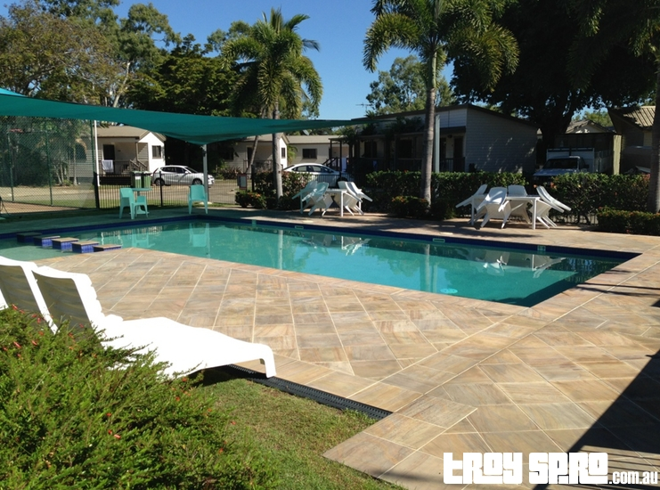 Swimming Pool at the Rowes Bay Beachfront Holiday Park