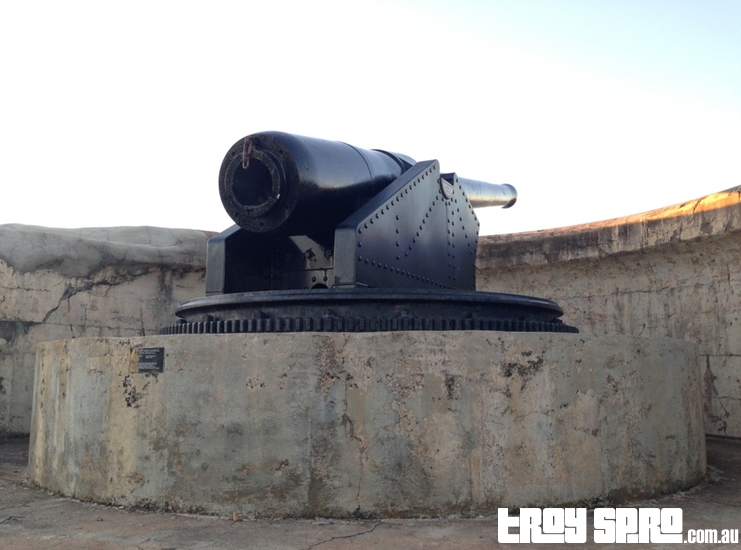 One of the guns at Kissing Point Fort