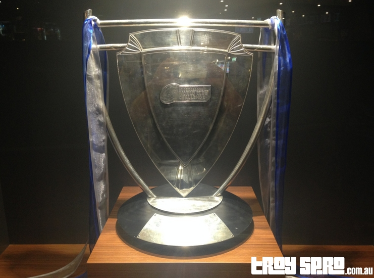 World Club Challenge Trophy at Cowboys Leagues Club Townsville