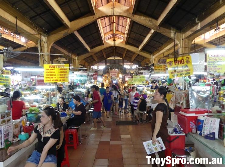 Food Stalls Ben Thanh Market Ho Chi Minh Vietnam