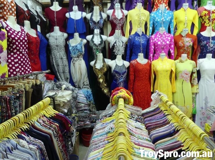 Inside Ben Than Markets Dress Store