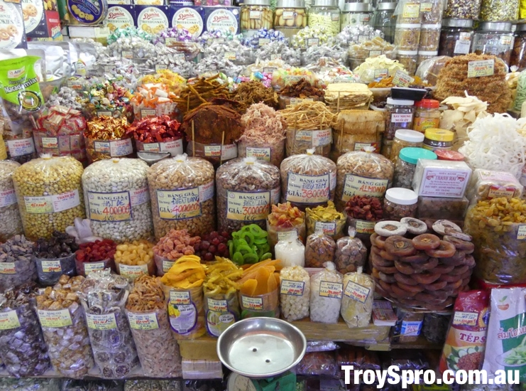 Spices and Dried Fruit Ben Thanh Market Ho Chi Minh Saigon Vietnam