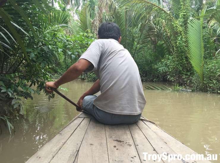 Sampan Boat Ride Mekong Delta Discovery Tour Ben Tre Vietnam