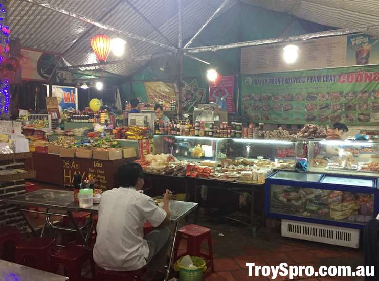 Vegetarian Food at Can Tho in the Mekong Delta Vietnam